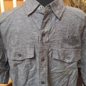 NWT Harley Davidson Grey Cotton SS Shirt  AM